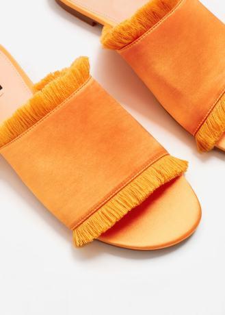 sandales satinées orange mango